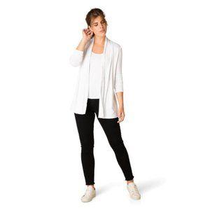 Yest Yessica Short Cardigan Sweater White 80472B